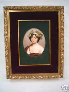 Fabulous French Portrait Painting On Porcelain Signed