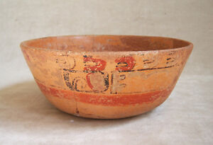 Superb Pre Columbian Mayan Polychrome Bowl C 600 900 Ad