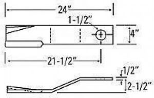 Bush Hog Cutter Blade 78495