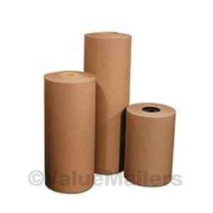 12 30 Lbs 1200 Brown Kraft Paper Roll Shipping Wrapping Cushioning Void Fill