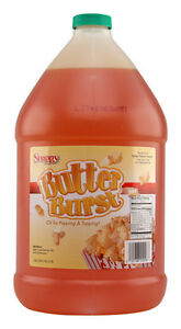 Popcorn Machine Supplies Butter Burst Buttery Oil Or Topping One Gallon