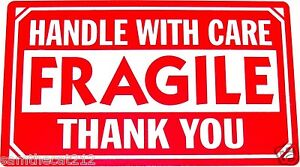 1000 2x3 Fragile Handle With Care Label sticker Best