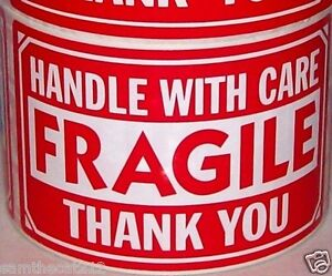 100 3x5 Fragile Handle With Care Label Sticker