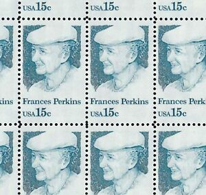 1821 15c FRANCES PERKINS NH FULL SHEET OF 50 SPECIAL SALE AT FACE $7.50