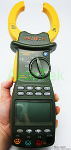 Mastech Ms2203 3 phase Clamp Meter Energy Optimization Saving Power Factor Corr