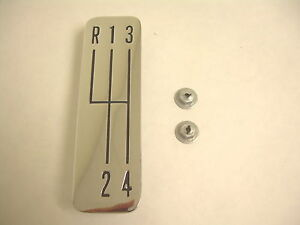 1963 Impala Ss 4 Speed Console Chrome Shift Shifter Plate Super Sport