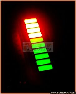 2x Led Bargraph 10 segs Bi color fixed Green Red led Audio Vu Meter Bar Usa