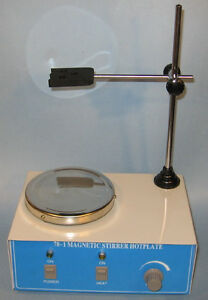Electric Magnetic Stirrer With Mixer Bar Spin Bars Lab New
