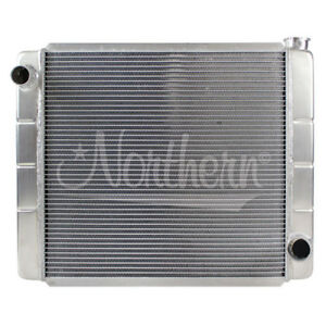 Northern 209679 24 X 19 Gm Chevy Style Universal 2 row Aluminum Radiator Racepro