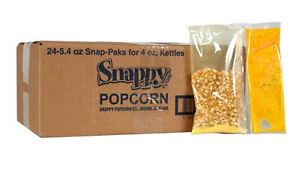 Popcorn Portion Pack Snap Paks For 4 Oz 24 case