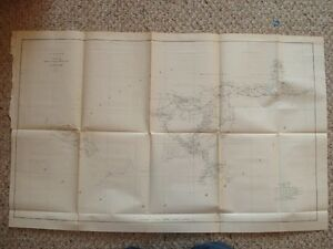 Antique Map New Orleans Louisiana Mississippi Alabama N