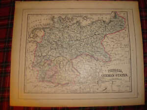 Antique Austria Prussia Germany Turkey Greece Malta Map