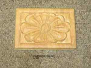 Wood Embossed Applique 4 1 4 X 3 Hq1216