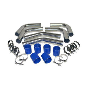 Cx Universal Anysize Intercooler Piping For 2 2 25 2 5 2 75 3 Blue black