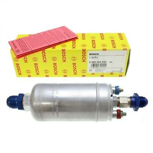 Real Bosch 0580254044 Inline Fuel Pump With 8 An Inlet Outlet Fittings