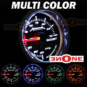 52mm Tinted Blue Led Turbo 30psi Boost vacuum Gauge