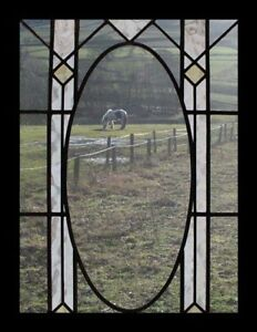Pretty Arts Crafts English Antique Stained Glass Window
