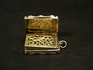 English Sterling Silver Vinaigrette C 1862