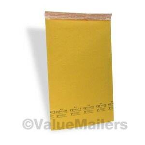 100 4 9 5x14 5 Ecolite Kraft Bubble Mailers Padded Envelopes Bags