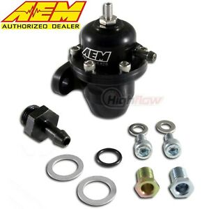 Genuine Aem 25 300bk Adjustable Fuel Pressure Regulator Acura Honda Civic B18