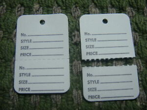 1000 Clothing Price Tagging Tags Gun Hang Label White