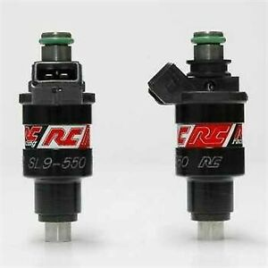 2 Rc Fuel Injectors Mazda Rx 7 Rx7 13b 20b 550cc Sl9 0550 Denso High Impedance