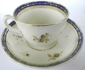 Fine Antique 18c English Porcelain Cup And Saucer Set