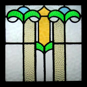 Fabulous Art Deco English Stained Glass Window Circa 1920