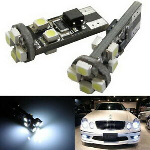 2 White Error Free W5w 2825 Led Bulbs For Audi Mercedes Parking Position Lights