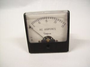 Simpson 0 25 Aac 2 5 Analog Panel Meter 02609