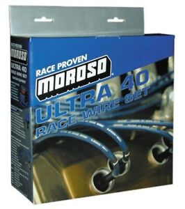 Moroso 73664 Ultra 40 Spark Plug Wires Sbc Small Block Chevy 350 383 400 Ovc Hei