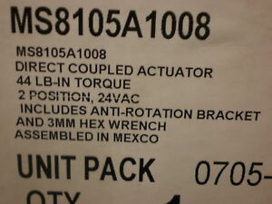 Honeywell Direct Coupled Actuator Ms8105a1008