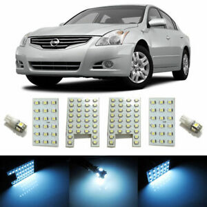 White 6 light Exact Fit Led Interior Light Package For 09 12 Nissan Altima 4door