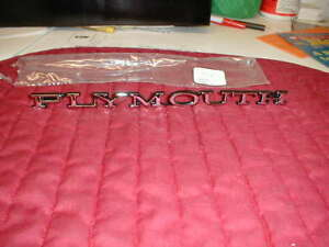 Nors Mopar 1968 71 Plymouth Hood Nameplate Most Models