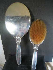 Sterling International 2pc Mirror Brush Set Unk Pattern