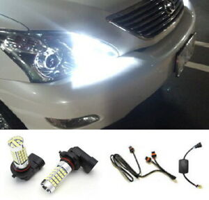 Xenon White 9005 Led High Beam Bulbs Daytime Running Lights Kit For Toyota Car