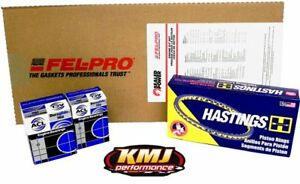Chevy 350 Re ring Overhaul Rebuild Kit Moly 040 010 010
