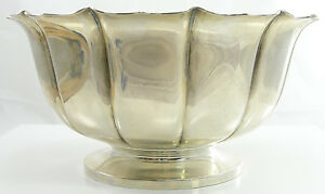 Spaulding Co Sterling Silver Footed Bowl Dublin Pattern 1720 Reproduction
