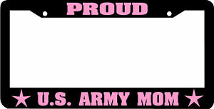 Us Army Mom Proud Pink License Plate Frame