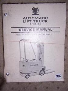 1968 Automatic Fork Lift Truck Manual Fe Electric F