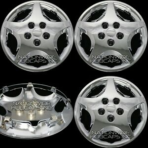 4 Fits 1992 05 Chevy Cavalier Aero 14 New Chrome Full Wheel Covers Rim Hub Caps