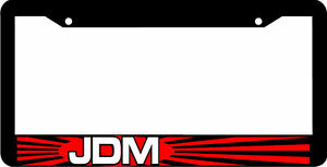 Black Jdm License Plate Frame