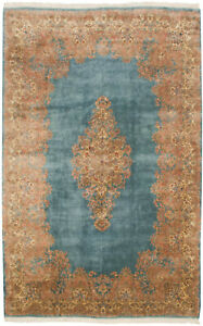 Rra 13x20 Persian Rug Kerman Carpet Light Blue 12170
