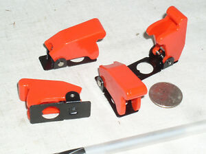 4 New Red Toggle Switch Flip Safety Cover Guard Guards Military 1 2 Inch Hole