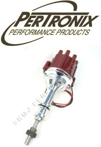 Pertronix D231801 Flame Thrower Ii Billet Marine Distributor Ford 351w Red Cap
