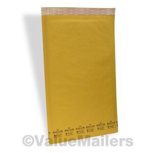 400 6 12 5x19 Ecolite Kraft Bubble Mailers Padded Envelopes Self Seal Bags 50 8