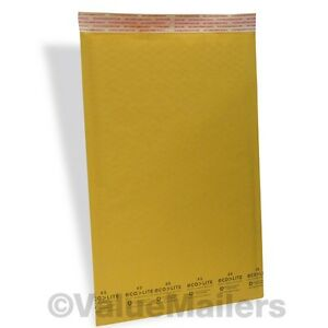600 5 10 5x16 Ecolite Kraft Bubble Mailers Padded Envelopes Self Seal Bag 100 6