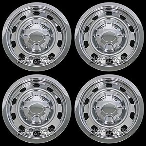 4 New 09 12 Colorado Canyon 16 Chrome Hub Caps Wheel Skins Full Rim Covers Hubs