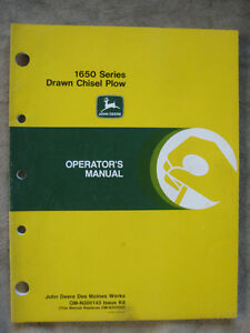 John Deere 1650 Drawn Chisel Plow Operator s Manual