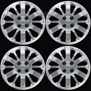 4 Chrome Cobalt Aveo Bolt On 15 4 Lug Hub Caps Full Wheel Covers R15 Steel Rim